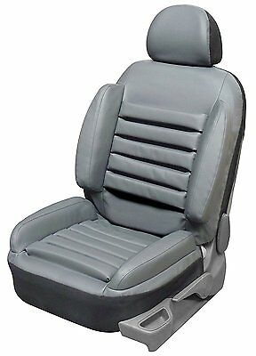 Housse Siege Auto Simili Cuir Gris, Anti Mal De Dos, Ergonomique, Grand Confort