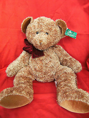 """Russ Teddy Bear - Victorian Tidings Collection """" Chips """" 19"""" with tatty tags"""