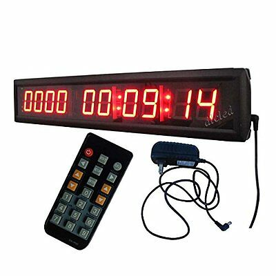 "1.8"" High Character LED Countdown/up Clock Support up to 10000 Days Countdown IR"