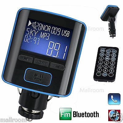 i6 BT Dual USB Auto Lade KFZ Musik MP3 Player Bluetooth FM Transmitter Handsfree