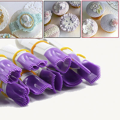 New 10Pcs  Lace Edge Sides Pastry Cake Decorating Clip Fondant Cutter Paste Tool