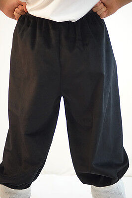 Victorian-Panto-Tudor-Baron-Fancy Dress CROPPED VELVET TROUSERS All Ages/Sizes