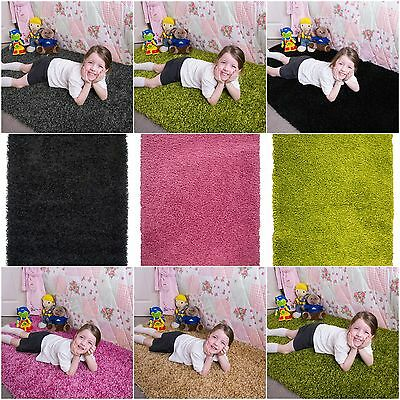 Kids Shaggy Fluffy Soft Floor Bedroom Bedside Mat Rug Play Girls Boys Children