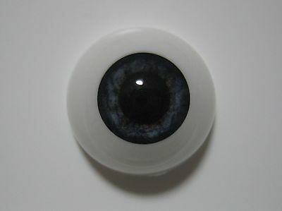 Reborn doll eyes 22mm Half Round  NEWBORN BLUE ( new style).