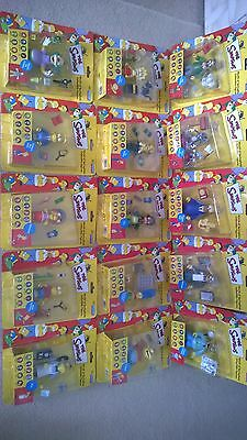 NEW WoS Simpsons set of 15 Collectable character Figures Rare! World of Simpsons