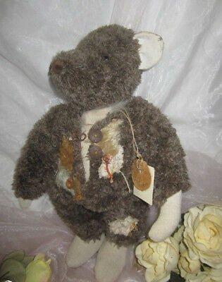 """♫ COLLECTION OURS Artiste CREATION """"CossFierre"""" Pièce Uniqu Teddy Bear PELUCHE ♫"""