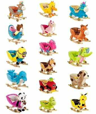 Baby Infant Kid Animal Character Rocker Musical Rocking Horse Walker Chair Seat