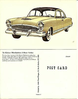 1954 Kaiser Manhattan 2 Door Sedan Postcard