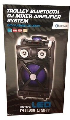 DJ Mixer Amplifer Karaoke Recording Guitar Bluetooth FM Subwoofer Wireless Mic