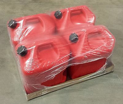 5 Gallon Red Gas Cans (Pack Of 4) - Midwest P# 5600