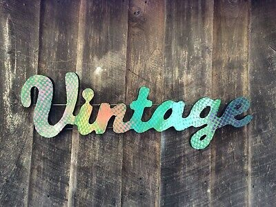 "Metal Large 3D Sign ""Vintage"" Funky Retro Inspired- Industrial-"