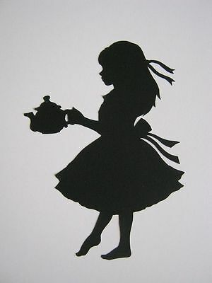 Alice With Teapot 190 micron Mylar Stencil durable & sturdy- A5 - A4 - A3