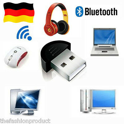 Mini Bluetooth USB Dongle Adapter Sender Empfänger Receiver EDR für PC Windows