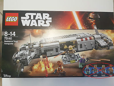 lego star wars 75140 neuf /figurines non incluses