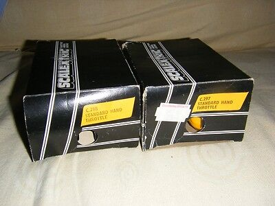 Two Scalextric C.297 & C.298 Hand Throttles Used In Boxes