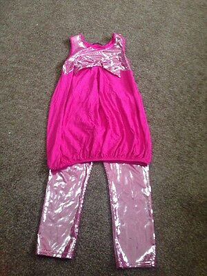 Girls Sparkly Xmas Party Occasion Leggings And Top Set 9-10