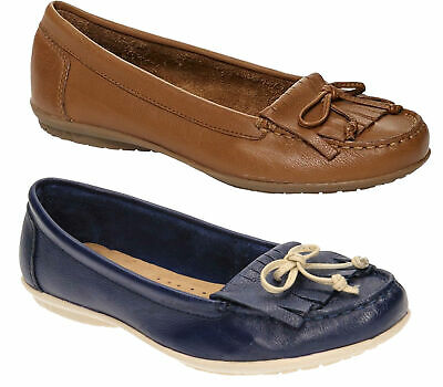 51787e19b1b Womens Hush Puppies Ceil Mocc Slip On Leather Tassle Loafers Sizes 3 to 8