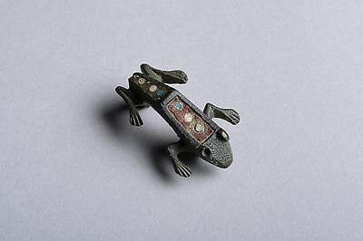 Ancient Roman British Bronze Frog Brooch - 150 AD