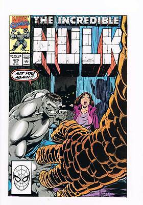 Incredible Hulk # 374 No Autographs ! grade - 7.5 scarce book !!