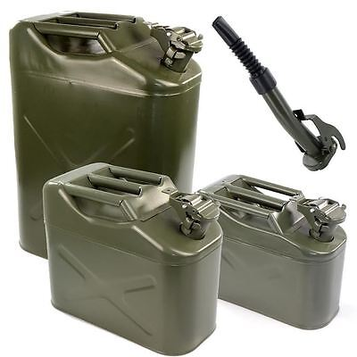 Metal Military Jerry Can Petrol Diesel Fuel Water Oil Storage Container Spout