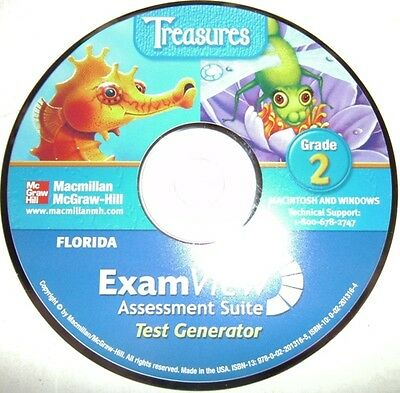 2nd Grade Macmillan McGraw Hill Treasures Exam View Assessment Suite Tests CD 2
