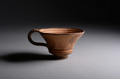 Fine Ancient Bronze Age Greek Mycenaean Pottery Cup - 1500 BC
