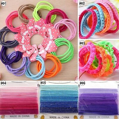 40pcs Mixed Colors Hair Band Ponytail Holder For Baby Girls Kids Accessories