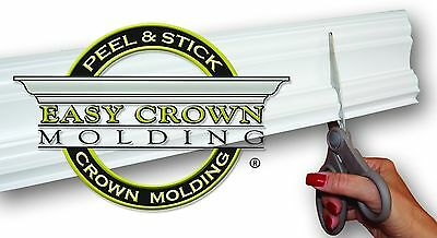 "4"" Peel & Stick Easy Crown Molding 100' Kit- Pre-Cut Inside and Outside Corners."