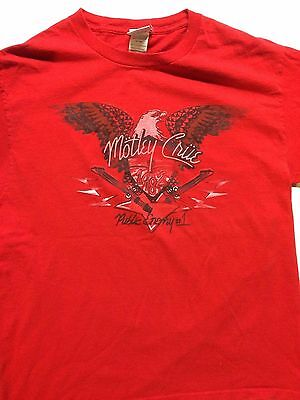 Motley Crue 1982 Public Enemy #1 Adult M Ss Retro Graphic T Shirt In Red
