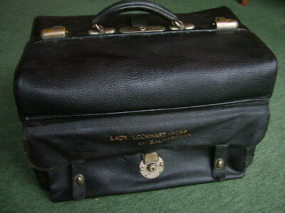 Stunning Antique Leather Gladstone Doctors Bag, 'Lady Lockhart-Ross' 1901
