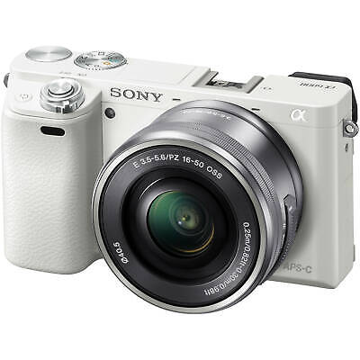 Sony Alpha a6000 Interchangeable Lens Camera with 16-50mm Power Zoom Lens White