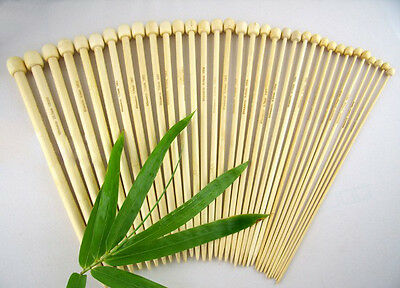 """Bamboo Knitting Needles 23cm 9"""" or 34cm 14"""" Size 2mm to 10mm"""
