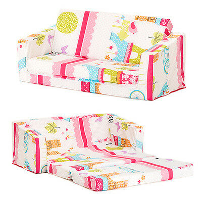 Paris Kids Flip Out 'Lily' Sofa Bed Sleep Over Fold Out Children's Furniture