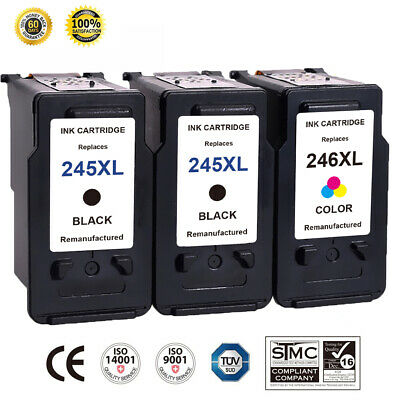 PG-245XL Black CL-246XL Color Ink Cartridge For Canon PIXMA IP2820 MX492 3 Pack