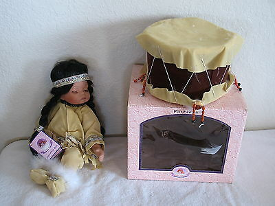 NATIVE AMERICAN PORCELAIN DOLL -MOONGLOW- Goldvale Collection