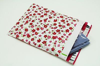 100 14.5x19 Pink Flowers Designer Poly Mailers Envelopes Boutique Custom Bags