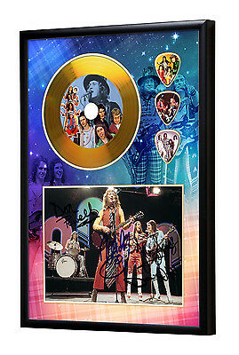 Slade Gold Vinyl Look CD, Autograph & Plectrum Display Noddy Holder