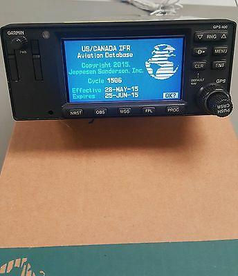 Garmin GPS-400 unit with database card and antenna