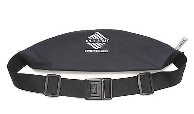 Aqua Quest Kona Pouch - Water Resistant, Fanny Pack Sport Running Belt - Black