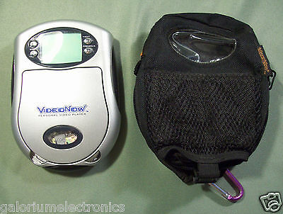 2003 Silver Hasbro Video Now Player, Travel Case & Disk - Free Usa Shipping