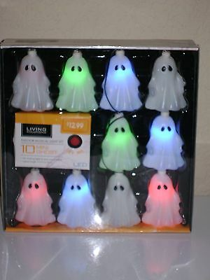 Halloween Ghost Indoor Musical Colorful Light Set Of 10 Nib