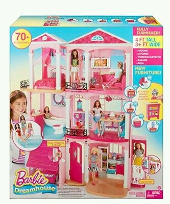 Barbie Dream House 3 Story With Elevator Furniture Accessories