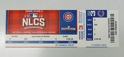 Chicago Cubs 2016 Nlcs Game 6 Ticket Stub Unused Cubs Vs Dodgers 6000103