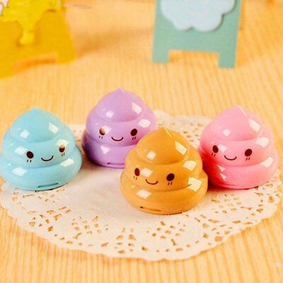 Emoji Poop Double Hole Pencil Sharpener For Home School Offices Student Children