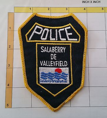 Canada Quebec QC Salaberry de Valleyfield Police Dept Obsolete Patch
