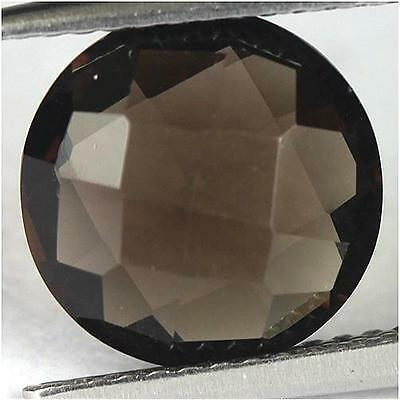 2.86Cts - Natural, Brown Smoky Quartz, Round, VVS, Africa, 1Pcs, Unheated