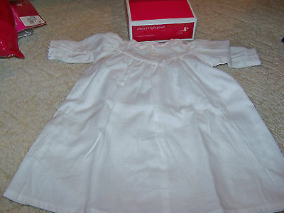 American Girl Addy's Nightgown (Long sleeved White Gown) Retired NIB