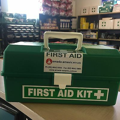 First Aid Kit Small Tackle Box EMPTY GREEN Bacterial Free CHEMICAL FREE