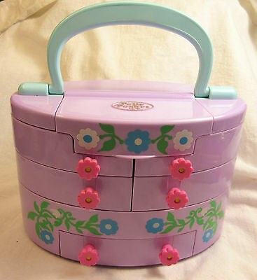 Vintage Bluebird Polly Pocket 1991 Pullout Playhouse Storage Carry Case