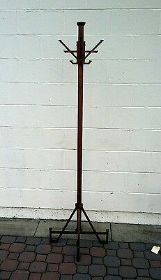 Antique Frank Loyd Wright style Arts Crafts Mission Cast Iron Hat Coat Rack